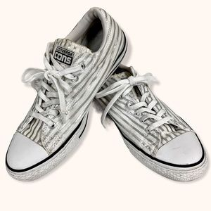 CONVERSE CONS FRAGMENT Silver Stripe Sneakers -9.5